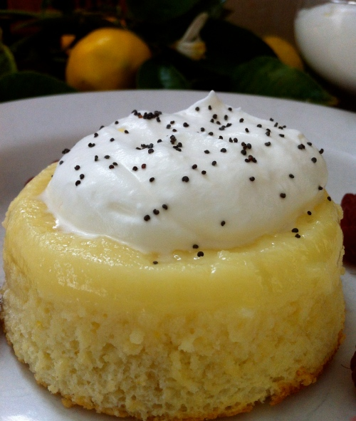 Meyer Lemon Souffle Pudding Cake